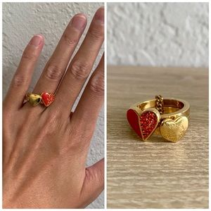Marc by Marc Jacobs Double Heart Ring